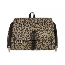 Quilted Animal Print Hanging Toiletry Kit