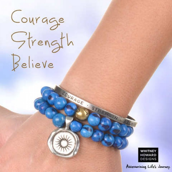 Seed Bracelet Set Courage Strength Believe